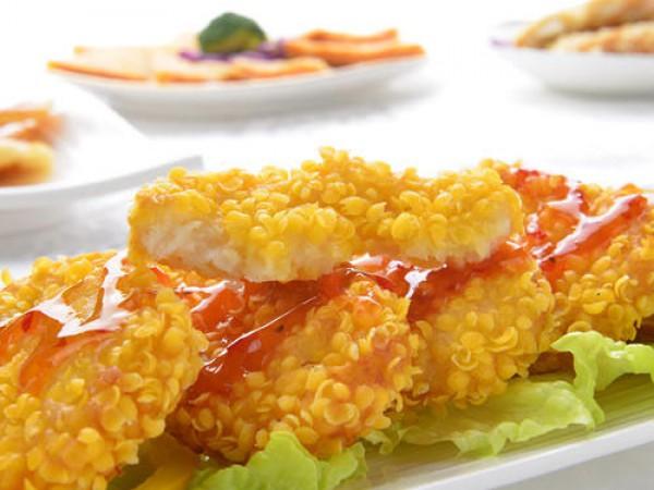 黄金虾堡成型